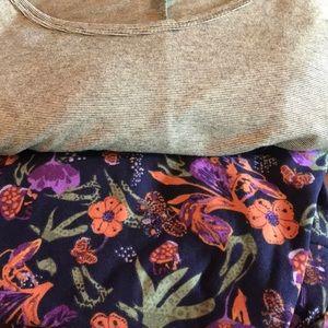 LuLaRoe 2X perfect T and TC floral leggings